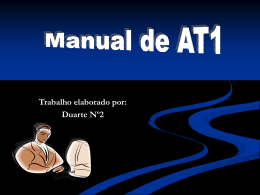 Manual de AT1 feito no PowerPoint