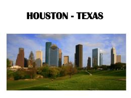 HOUSTON - TEXAS Uma das principais cidades