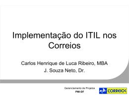 Implantação do ITIL nos Correios
