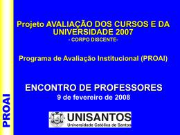PROAI - Universidade Católica de Santos