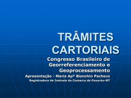 TRÂMITES CARTORIAIS - Anoreg-MT