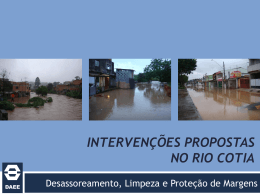 Apresentação DAEE: Intervenções no Rio Cotia - Pinheiros