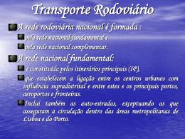 A distribuição espacial das redes de transporte em Portugal