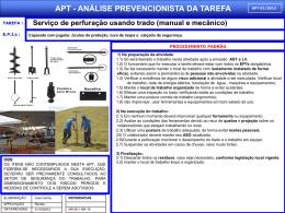 APT 01 - Serviço de Perfuração Utilizando Trado