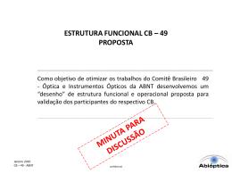 estrutura funcional cb – 49 proposta