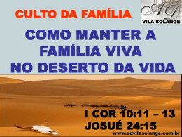 culto da família - ad vila solange