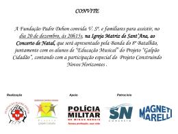 convite - Paroquia Santana de Lavras