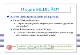 METROLOGIA - Universidade Federal de Minas Gerais