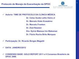 Protocolo de Manejo da Exacerbação da DPOC