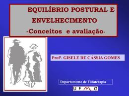 EQUILÍBRIO POSTURAL E ENVELHECIMENTO