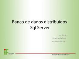 bancos de dados distribuidos – sqlserverV2