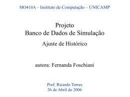 Apresentação do Projeto de Banco de Dados de Simulação