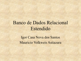Banco de Dados Relacional Estendido