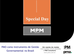 PMO Corporativo doBanco Central do Brasil
