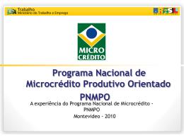 Programa Nacional de Microcrédito Produtivo Orientado
