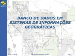 banco de dados em sistemas de informações geográficas