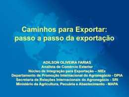Caminhos para Exportar