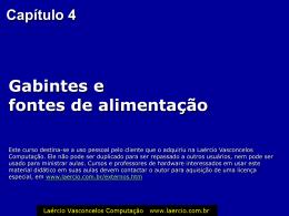 cap04 - Gabinetes e fontes