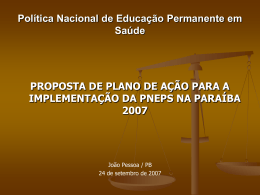 Justificativa - Secretaria de Estado da Saúde da Paraíba