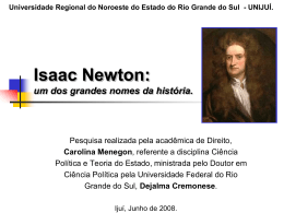 Sir Isaac Newton - Capital Social Sul