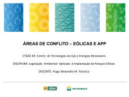 áreas de conflito – eólicas e app