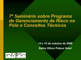 Seminário sobre PGR e Conceitos Técnicos