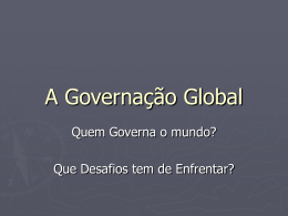 A Governação Global