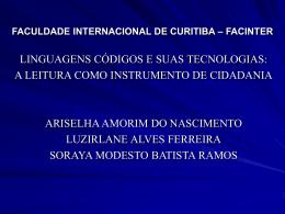 FACULDADE INTERNACIONAL DE CURITIBA – FACINTER