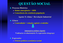 QUESTÃO SOCIAL SERVIÇO SOCIAL MEDIAÇÃO