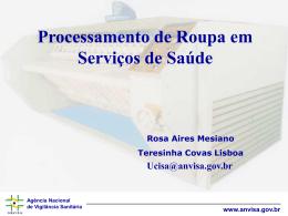 Processamento de Roupa em Serviços de Saúde