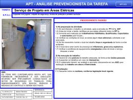 APT 22 - Serviço de Projeto em Áreas Elétricas
