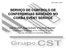 serviço de controlo de conferencias baseado no corba event service