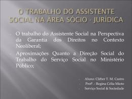 Maiores Demandas do Serviço Social