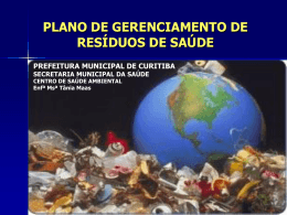 plano de gerenciamento de resíduos de saúde