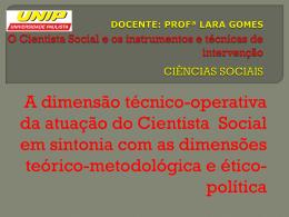 O Serviço Social e os instrumentos e técnicas de intervenção