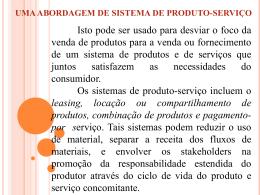 6.5.2.2 uma abordagem de sistema de produto-serviço