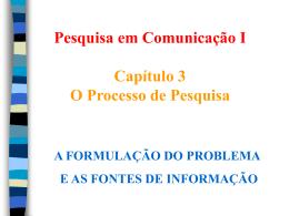 PesqCom I - Cap 3