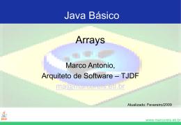 Arrays - Marco Reis