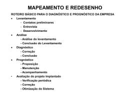 MAPEAMENTO E REDESENHO - Universidade Castelo Branco