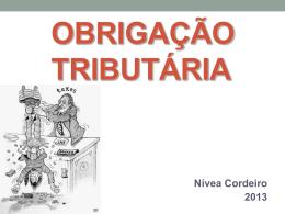 Obrigação Tributária - Cordeiro e Aureliano