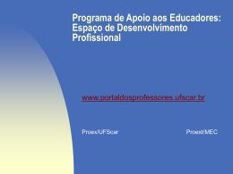 Programa de Apoio aos Educadores: Espaço de