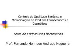 Teste de Endotoxinas bacterianas
