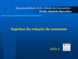 Aula2_consumidor082 - Acadêmico de Direito da FGV