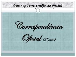Correspondência Oficial 3