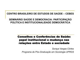 CENTRO BRASILEIRO DE ESTUDOS DE SAÚDE