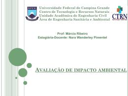 Impactos Ambientais - Área de Engenharia de Recursos Hídricos