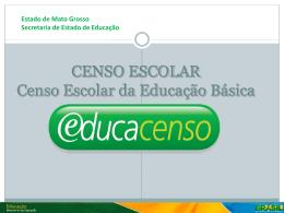 Apresentação - Fluxograma Censo Escolar