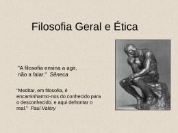 Filosofia Geral e Ética