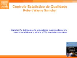 CAP. 3 - Estatística Industrial - Controle Estatístico de Qualidade