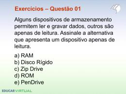 Exercícios – Questão 10
